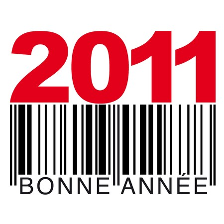 francaise: 2011 barcode francaise Illustration