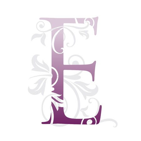 letter e, typography Vector