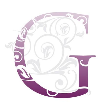 book logo: letra g, tipograf�a