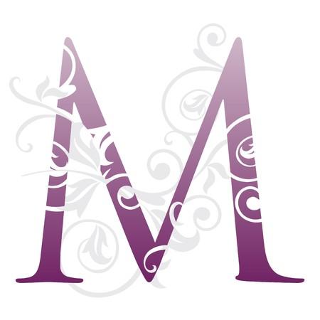 letra m: letra m, tipograf�a  Vectores
