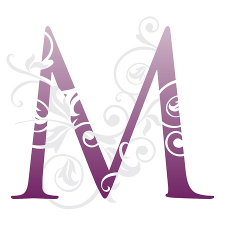 letter m, typography Vector