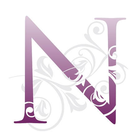 letter n, typography Vector