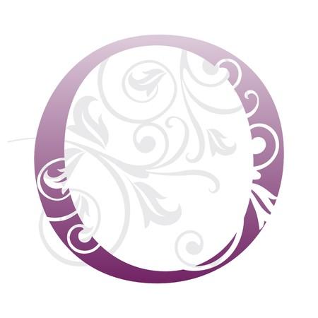 book logo: letra o, tipograf�a  Vectores