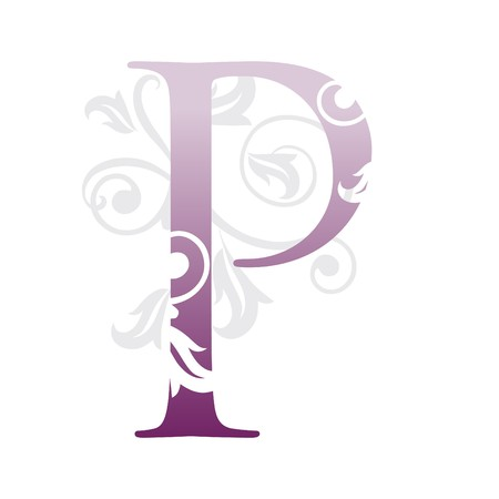 letter p, typography Vector