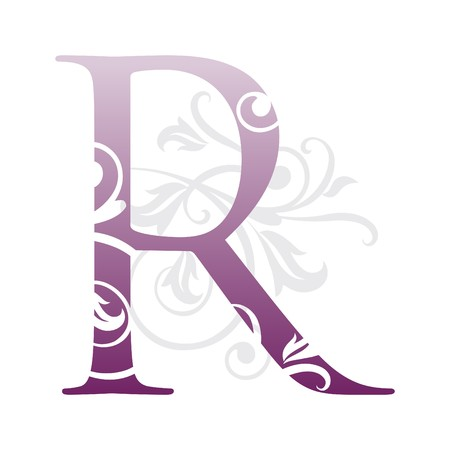 abc calligraphy: letter r, typography
