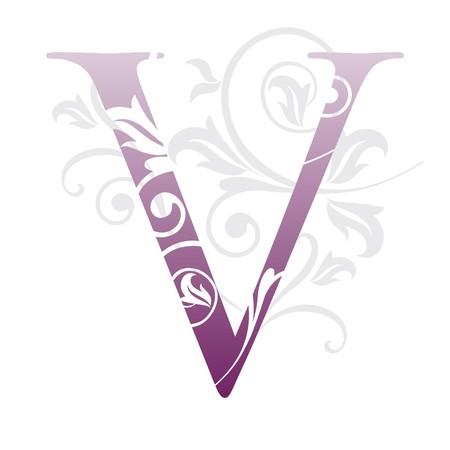 letter v, typography