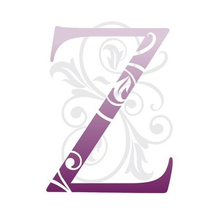 buchstabe z: Letter Z, Typografie