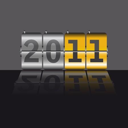 2011 gold counter Illustration