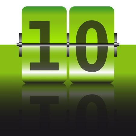 green ten card Vector