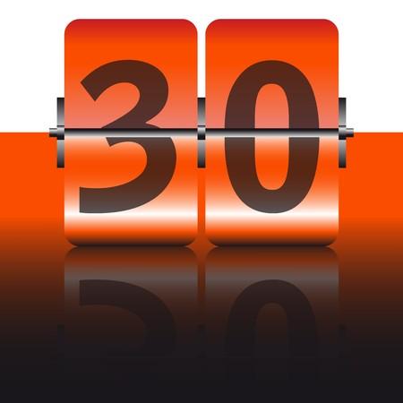 thirty: orange thirty card