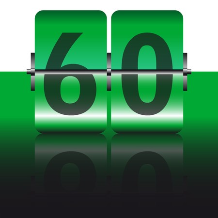 green sixty card Vector