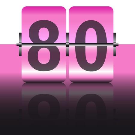 ochenta: Rosa tarjeta de ochenta