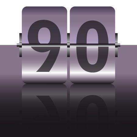 ninety: grey ninety card Illustration