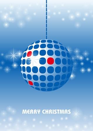 Blue Christmas ornament Vector