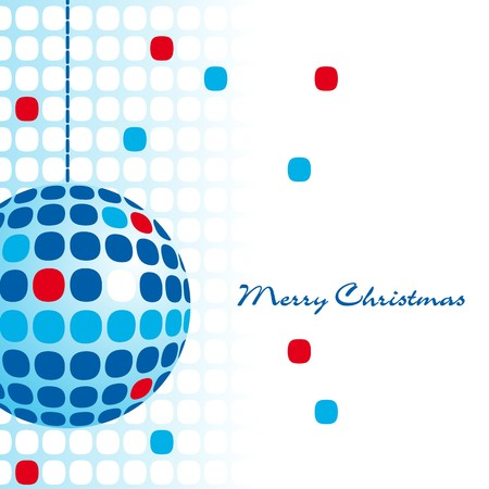 Blue Christmas ball ornament Vector