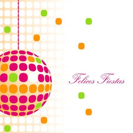 best party: palla di Natale arancia soprammobile spagnolo