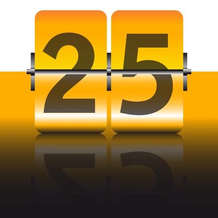 gold twenty-five card Stock Vector - 7995835
