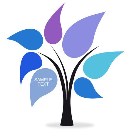 arbol de la sabiduria: �rbol de colores azules