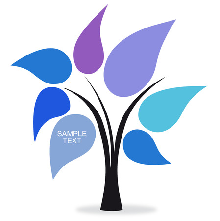 Tree colors blue Stock Vector - 8115804