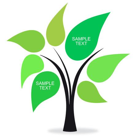 knowledge tree: text green tree Illustration