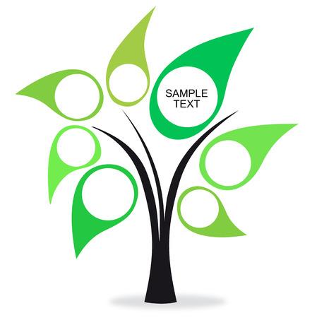 knowledge tree: Tree colors green Illustration