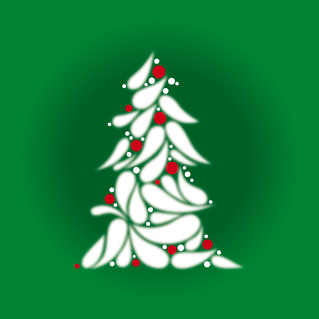 best wishes: Christmas tree