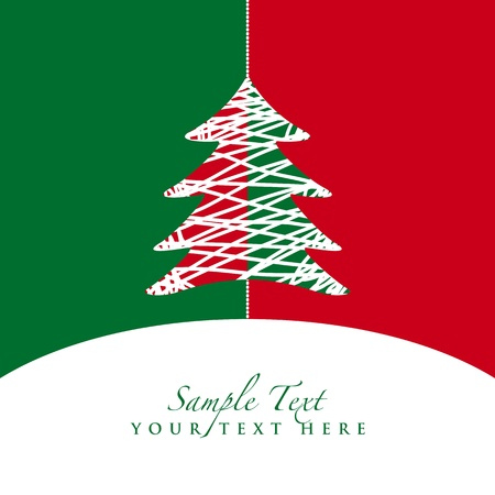 red and green christmas tree Stock Vector - 8270507