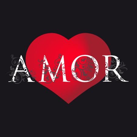 Spanish love card Vector
