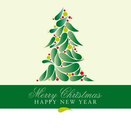 Christmas card with spruce Vector