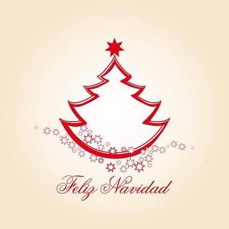 christmas tree spanish Vector