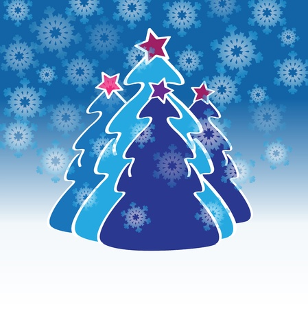 blue fir christmas Vector