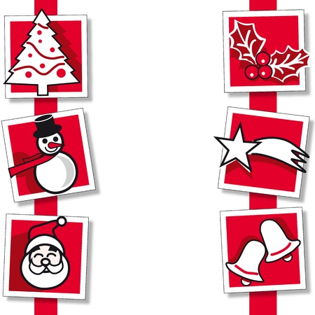Christmas ornaments card Illustration
