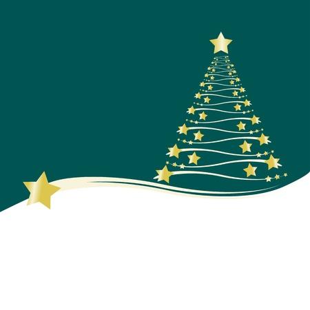 nadal: christmas tree gold star Illustration