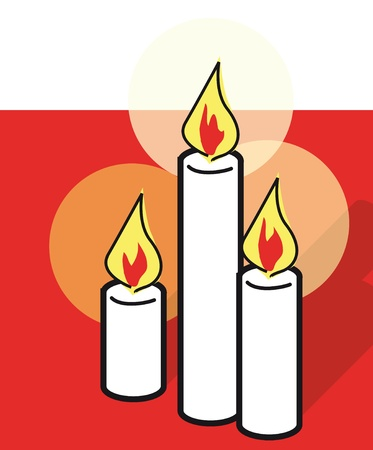 candle light: three candles