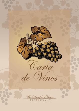 wijn lijst Spaans Vector Illustratie