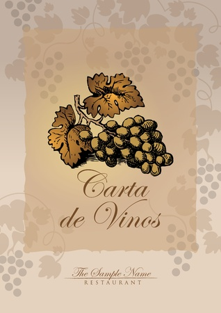 wine list spanish Vector