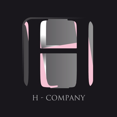 letter h application logo Vector
