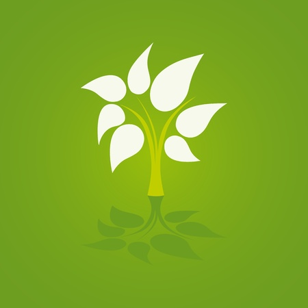 green tree icon Stock Vector - 9635287