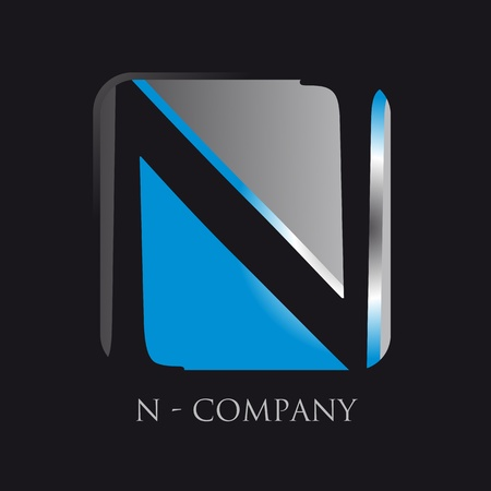 letter n application logotype Vector