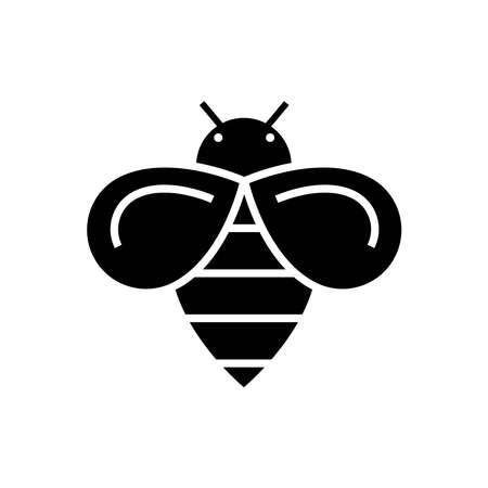Bean icon glyph style vector