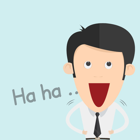 lol: Illustration of a Boy Laughing Out Loud