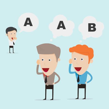 bluff: Uomini d'affari che comunicano dalla grande distanza