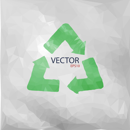 recycled paper: Vector illustration of recycled paper
