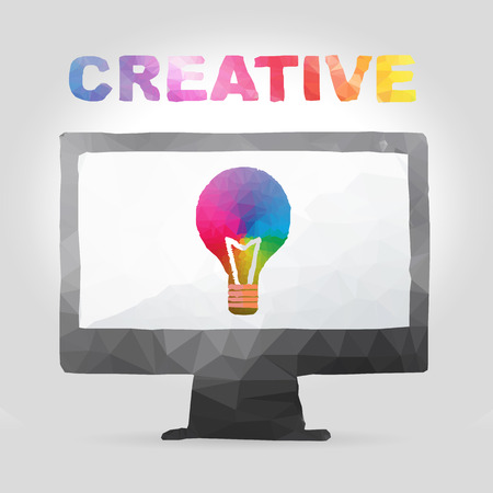 Vector illustration of creative concept in polygon design  Vector