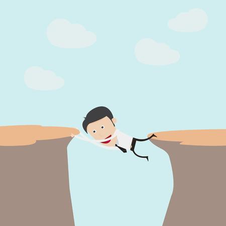 help each other: Businessman climb on the mountain  Illustration