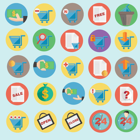 Vector illustration of online shopping icon in flat design  Vector