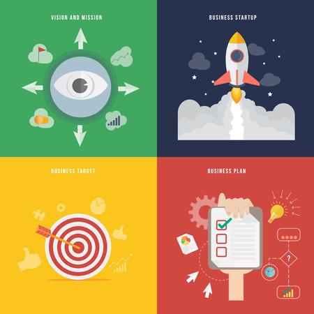 Onderdeel van de business development concept pictogram in vlakke uitvoering