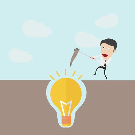 dig up: Dig the idea concept