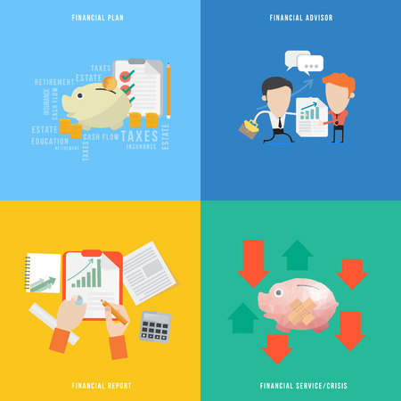 financial advisors: Element of financial concept icon in flat design