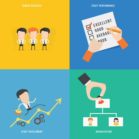 evaluation: Element of human resource concept icon in flat design